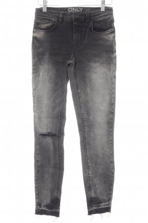 Only Skinny Jeans dunkelgrau Destroy-Optik