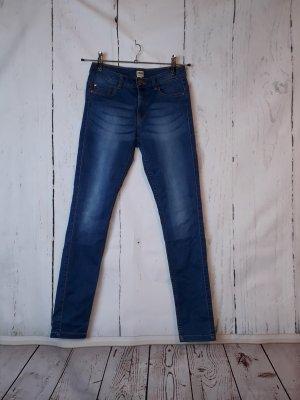 ONLY Skinny-Jeans - Gr. M / L32 - blau