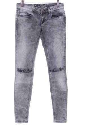 Only Skinny Jeans grau-hellgrau Urban-Look