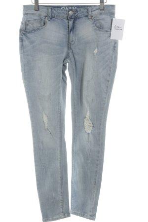 Only Skinny Jeans hellblau Used-Optik