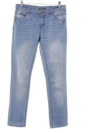 Only Skinny Jeans kornblumenblau Washed-Optik