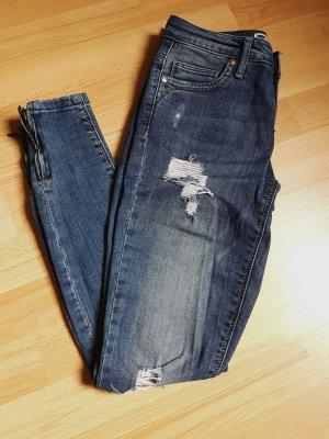 Only Skinny Jeans mit Reißverschluss Details