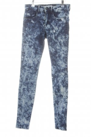 Only Skinny Jeans neonblau Allover-Druck Casual-Look