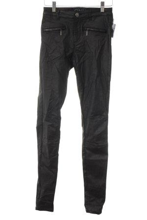 Only Skinny Jeans schwarz Biker-Look