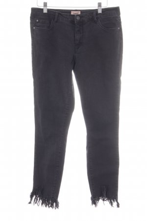 Only Skinny Jeans schwarz Destroy-Optik