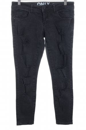 Only Skinny Jeans schwarz-dunkelgrau Street-Fashion-Look