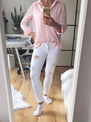 ONLY Skinny Jeans weiß destroyed low waist Gr. 27/30