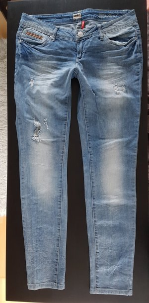 ONLY Skinny Superlow Coral Jeans W30/L32