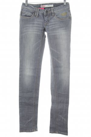 Only Slim Jeans silver-colored casual look