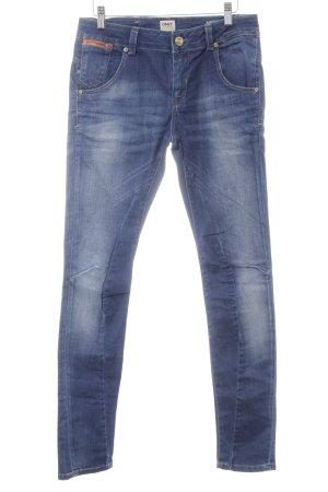 Only Slim Jeans blau Washed-Optik