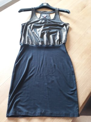 Only Tube Dress black-gold-colored
