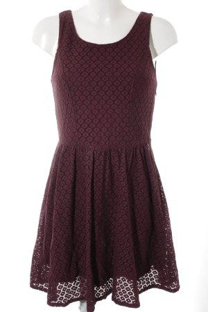 Only Spitzenkleid braunviolett Elegant