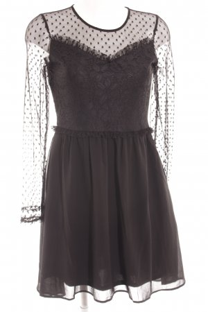Only Lace Dress black flower pattern gothic look