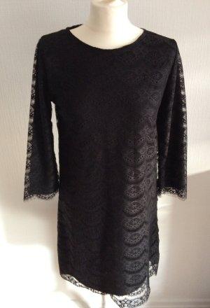Only Spitzenkleid schwarz Kleid mit schwarzer Spitze Gr. L mit Innenfutter