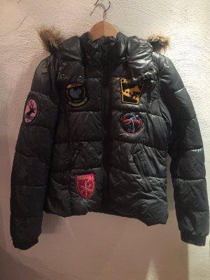 Only Winterjack veelkleurig