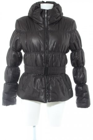 Only Steppjacke schwarz Glanz-Optik
