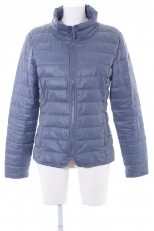 Only Steppjacke stahlblau Steppmuster Casual-Look