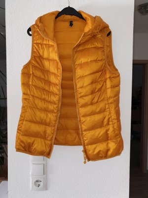 Only Quilted Gilet gold orange