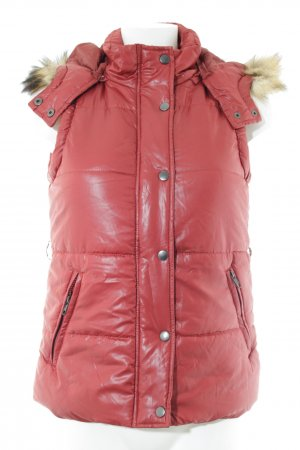 Only Quilted Gilet dark red simple style