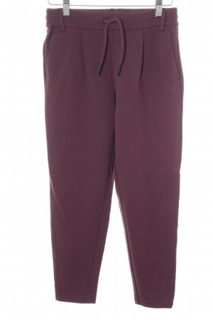 Only Stoffhose purpur Casual-Look