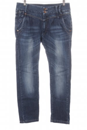 Only Straight-Leg Jeans neonblau Casual-Look