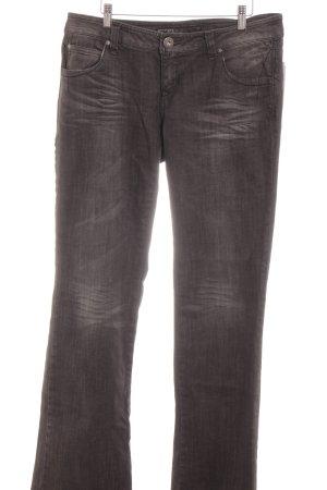 Only Straight-Leg Jeans anthrazit schlichter Stil