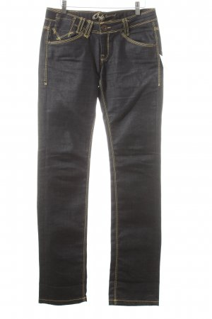 Only Straight-Leg Jeans dunkelblau Street-Fashion-Look