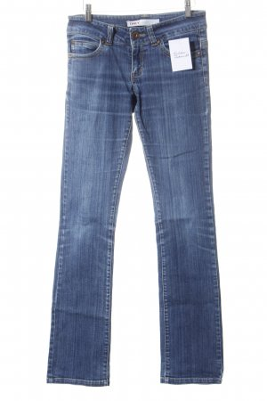 Only Straight-Leg Jeans stahlblau-graublau Jeans-Optik