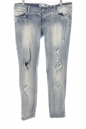 Only Stretch Jeans himmelblau Bleached-Optik