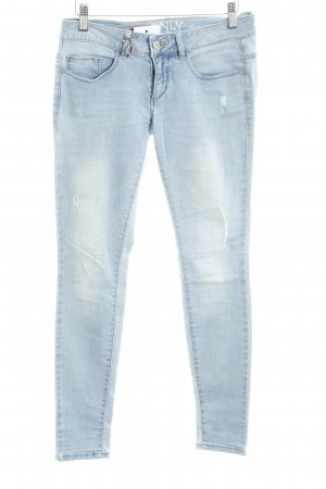 Only Stretch jeans lichtblauw straat-mode uitstraling