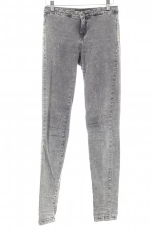 Only Stretch Jeans hellgrau-grau Farbverlauf Casual-Look