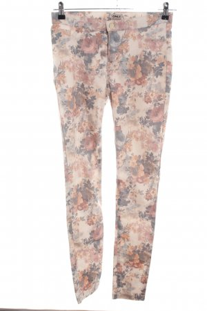 Only Stretch Trousers flower pattern casual look