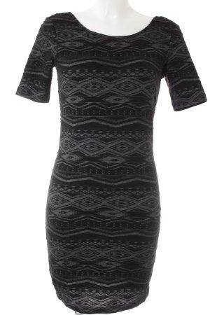 Only Vestido elástico negro-gris antracita estampado con aplicaciones elegante