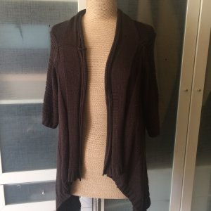 Only hearts Coarse Knitted Jacket black brown cotton