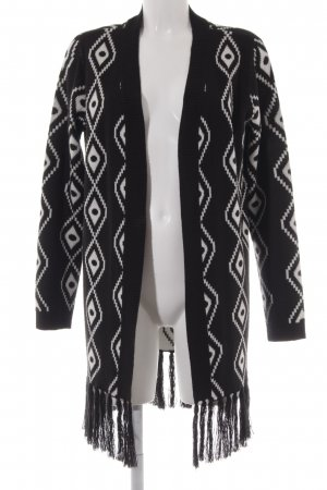 Only Knitted Cardigan black-natural white abstract pattern casual look