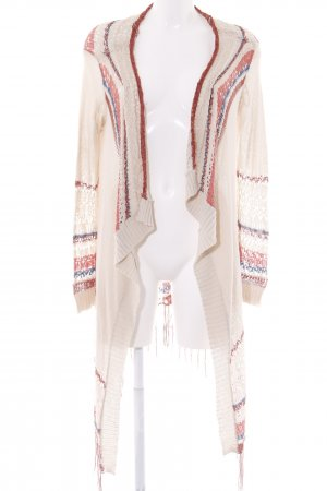 Only Knitted Blazer cream-russet weave pattern Boho look
