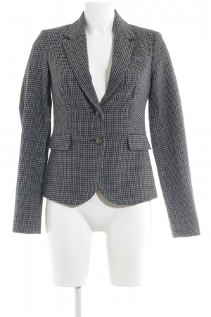 Only Knitted Blazer black-grey houndstooth pattern business style