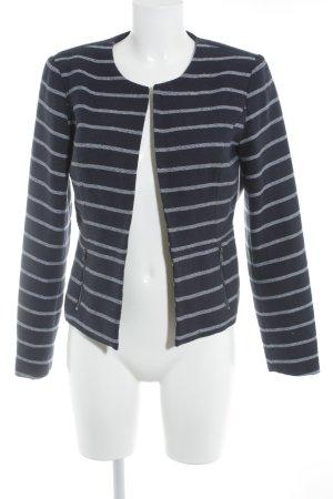 Only Gebreide blazer wit-donkerblauw gestreept patroon zakelijke stijl