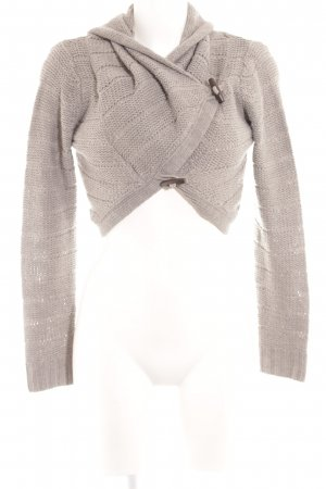 Only Knitted Bolero light grey loosely knitted pattern casual look