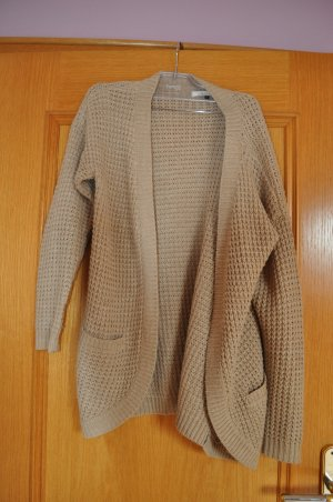 Only Cardigan all'uncinetto beige-color cammello Tessuto misto