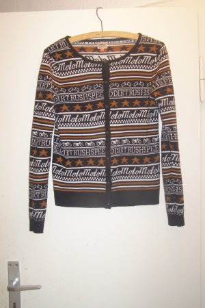 Only Strickjacke bunt gemustert