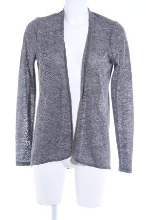 Only Strickjacke grau meliert schlichter Stil