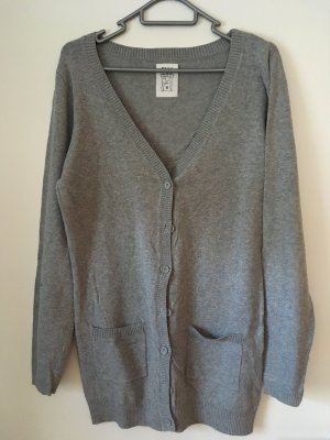 Only Strickjacke in grau