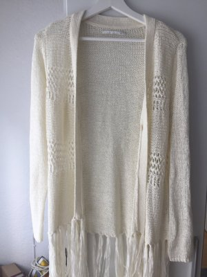 ONLY - Strickjacke mit Fransen, Gr. M