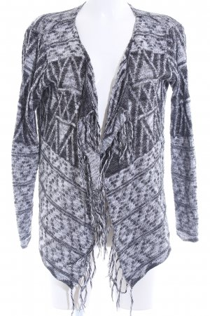 Only Strickjacke schwarz-weiß Aztekenmuster Hippie-Look