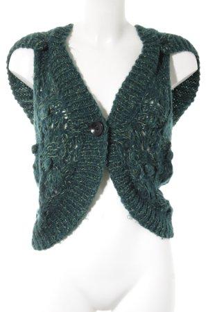 Only Strickjacke waldgrün-grün Farbverlauf Casual-Look