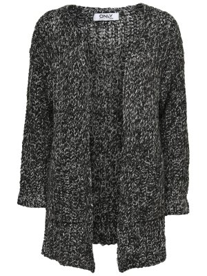 only strickjacke weste schwarz long 36 blogger daunenjacke steppjacke mantel