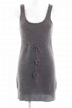 Only Strickkleid hellgrau Zopfmuster Casual-Look