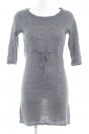 Only Strickkleid grau Zopfmuster Casual-Look