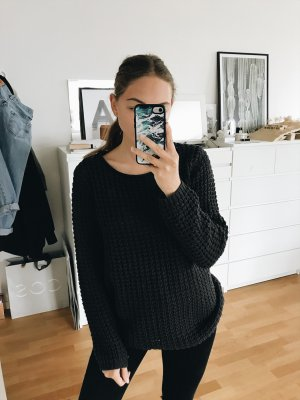 Only Strickpullover Anthrazit Grau